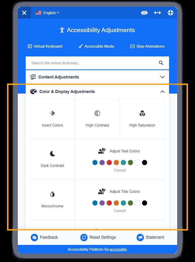 Display Adjustments graphic