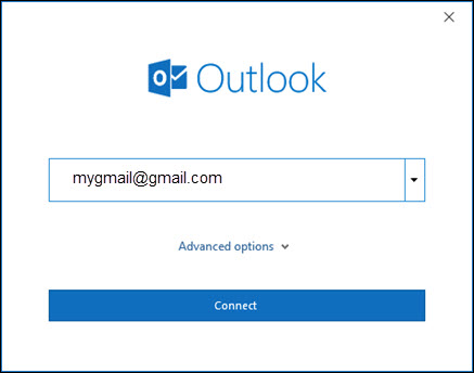 Add Gmail Account to Outlook